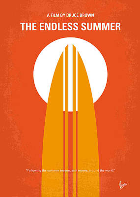Orange Style Digital Art - No274 My The Endless Summer Minimal Movie Poster by Chungkong Art