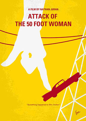 No276 My Attack Of The 50 Foot Woman Minimal Movie Poster Art Print by Chungkong Art