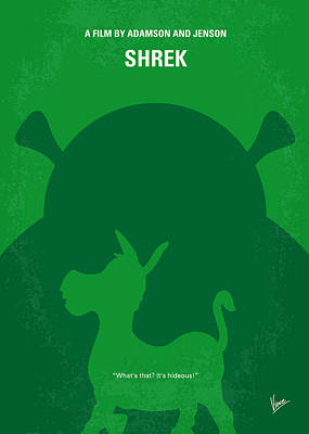Princess Digital Art - No280 My Shrek Minimal Movie Poster by Chungkong Art