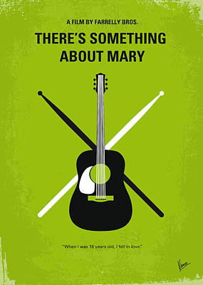No286 My There's Something About Mary Minimal Movie Poster Print by Chungkong Art