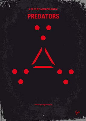 No289 My Predators Minimal Movie Poster Print by Chungkong Art