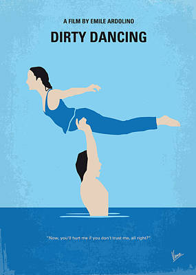 Dance Digital Art - No298 My Dirty Dancing Minimal Movie Poster by Chungkong Art