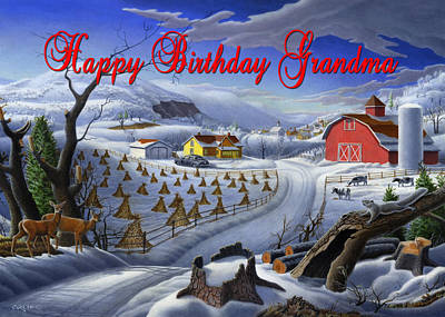 Shock Painting - no3 Happy Birthday Grandma by Walt Curlee