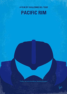Robot Digital Art - No306 My Pacific Rim Minimal Movie Poster by Chungkong Art