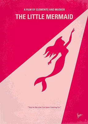 No314 My Mermaid Minimal Movie Poster Art Print