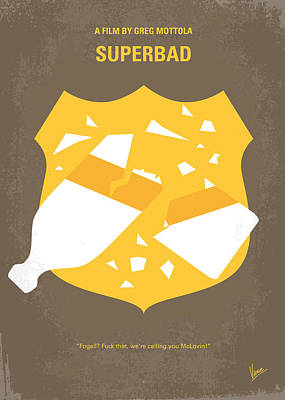 Cop Digital Art - No315 My Superbad Minimal Movie Poster by Chungkong Art