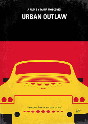 Porsche Digital Art - No316 My Urban Outlaw Minimal Movie Poster by Chungkong Art