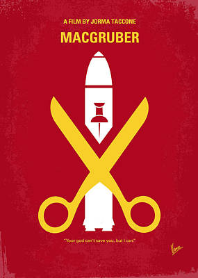 Rio Digital Art - No317 My Macgruber Minimal Movie Poster by Chungkong Art