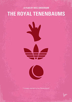 Idea Digital Art - No320 My The Royal Tenenbaums Minimal Movie Poster by Chungkong Art