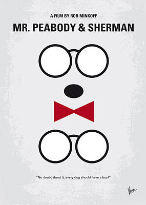 Genius Wall Art - Digital Art - No324 My Mr Peabody Minimal Movie Poster by Chungkong Art