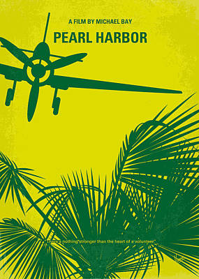 No335 My Pearl Harbor Minimal Movie Poster Print by Chungkong Art