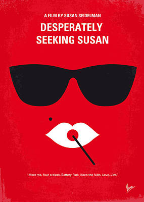 No336 My Desperately Seeking Susan Minimal Movie Poster Art Print by Chungkong Art
