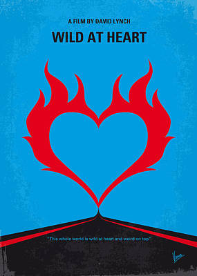 No337 My Wild At Heart Minimal Movie Poster Art Print by Chungkong Art
