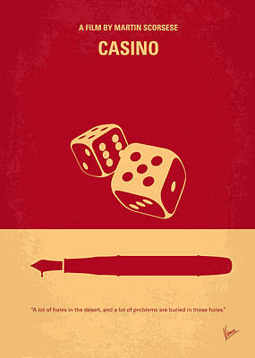 Fan Art Digital Art - No348 My Casino Minimal Movie Poster by Chungkong Art
