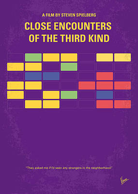 Five Digital Art - No353 My Encounters Of The Third Kind Minimal Movie Poster by Chungkong Art