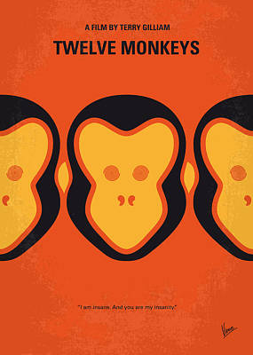 Monkey Wall Art - Digital Art - No355 My 12 Monkeys Minimal Movie Poster by Chungkong Art