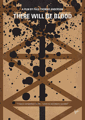 Is Digital Art - No358 My There Will Be Blood Minimal Movie Poster by Chungkong Art