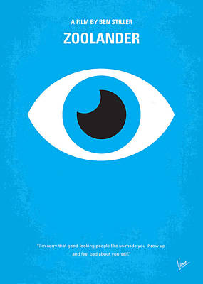 No362 My Zoolander Minimal Movie Poster Art Print by Chungkong Art