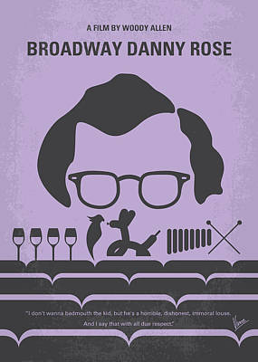 No363 My Broadway Danny Rose Minimal Movie Poster Art Print by Chungkong Art