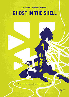 Connected Digital Art - No366 My Ghost In The Shell Minimal Movie Poster by Chungkong Art