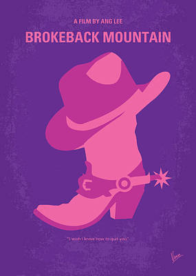 Cowboys Digital Art - No369 My Brokeback Mountain Minimal Movie Poster by Chungkong Art