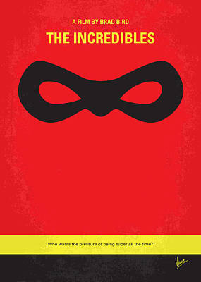 No368 My Incredibles Minimal Movie Poster Art Print by Chungkong Art