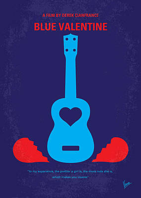 Dean Digital Art - No379 My Blue Valentine Minimal Movie Poster by Chungkong Art