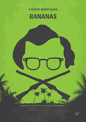 No375 My Bananas Minimal Movie Poster Art Print