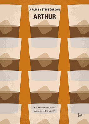 Drunk Digital Art - No383 My Arthur Minimal Movie Poster by Chungkong Art