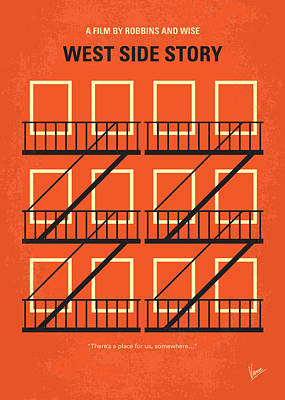 Nyc Digital Art - No387 My West Side Story Minimal Movie Poster by Chungkong Art