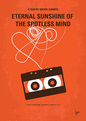 Retro Digital Art - No384 My Eternal Sunshine Of The Spotless Mind Minimal Movie Pos by Chungkong Art