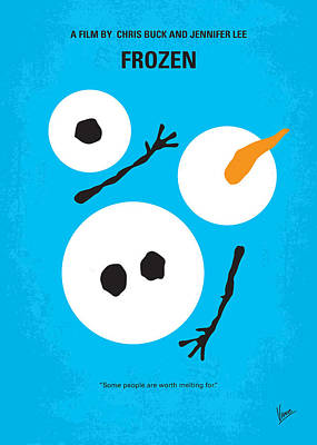 No396 My Frozen Minimal Movie Poster Art Print
