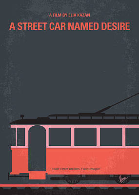 Street Car Digital Art - No397 My Street Car Named Desire Minimal Movie Poster by Chungkong Art