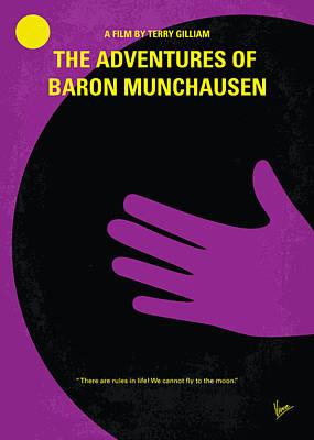 No399 My Baron Von Munchhausen Minimal Movie Poster Art Print