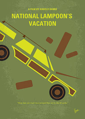 No412 My National Lampoons Vacation Minimal Movie Poster Art Print by Chungkong Art