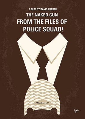 Police Digital Art - No432 My The Naked Gun Minimal Movie Poster by Chungkong Art