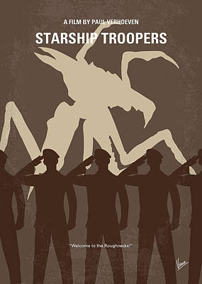 Earth Digital Art - No424 My Starship Troopers Minimal Movie Poster by Chungkong Art