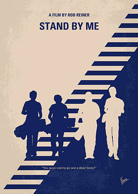 Inspiring Digital Art - No429 My Stand By Me Minimal Movie Poster by Chungkong Art