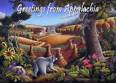 Shock Painting - no6 Greetings from Appalachia by Walt Curlee