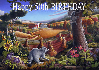 Shock Painting - no6 Happy 50th Birthday by Walt Curlee