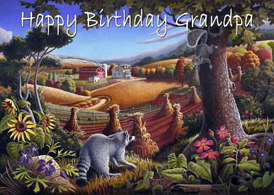 no6 Happy BirthDay Grandpa Original by Walt Curlee
