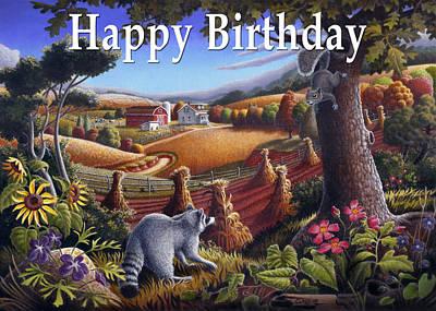 no6 Happy Birthday Original by Walt Curlee