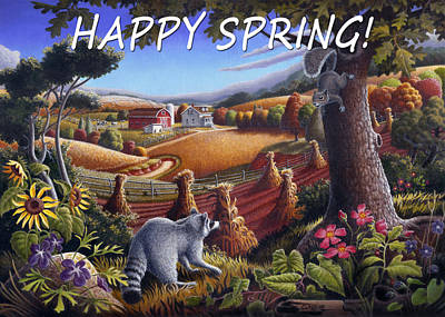 no6 Happy Spring Original by Walt Curlee