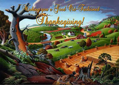 no9 Wishing you a Good Old Fashioned Thanksgiving Original