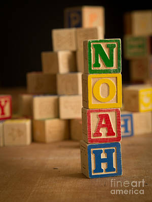 Noah - Alphabet Blocks Art Print by Edward Fielding
