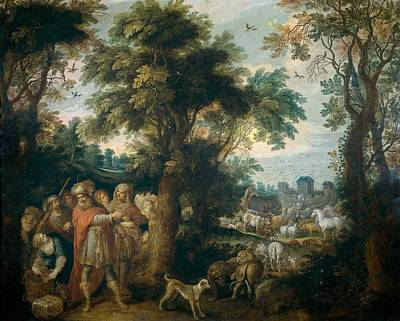 Noah Directs The Entry Of Animals Into The Ark Art Print by Frans Francken