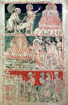 13th Century Painting - Noah, Early 13th Century by Granger
