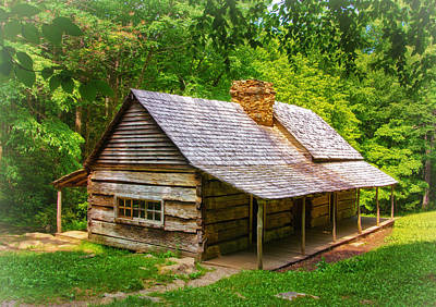 Photograph - Noah Ogle Cabin by Carolyn Derstine