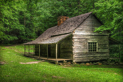 Noah Ogle Cabin Art Print by Cindy Haggerty