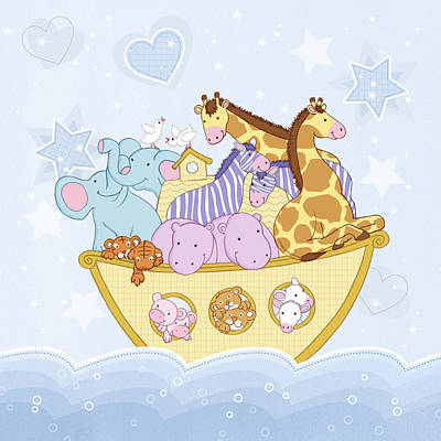 Giraffe Drawing - Noah's Ark by Amanda Francey